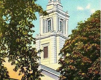 Vintage Cape Cod Postcard - The Christopher Wren Tower, Provincetown (Unused)