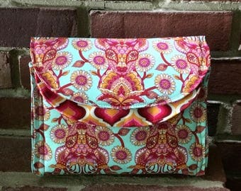 Starlet Captivating Clutch, Tula Pink Fabric Clutch