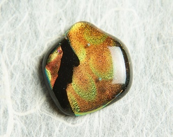 CoLoR ChanGinG Dichroic Fused Glass Focal Cab Bead Pendant Necklace