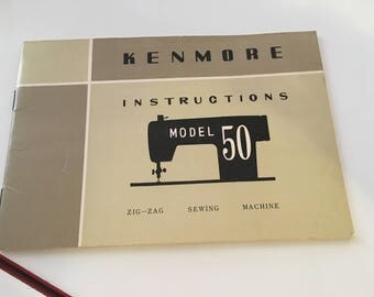Kemore Model 50 sewing machine instructions manual