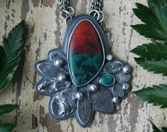 Fireflower - Sonoran Sunrise Sterling Silver Necklace