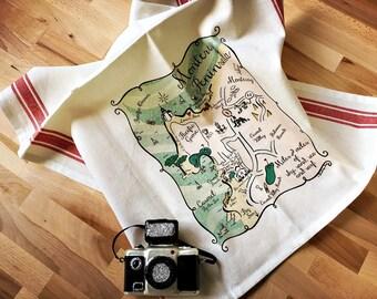 Monterey Peninsula Map Kitchen/Tea Towel