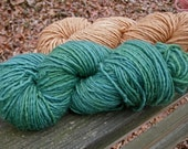 Pine Green--4 Ounce Worsted Skein--Wool Mohair Blend--185 Yards--Plant Dyed