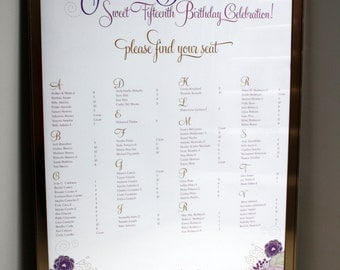 Flower Garden Seating Chart | Purple | Pink | Flowers | Beautiful