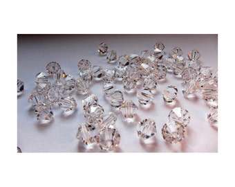 6mm Crystal Swarovski Bicone Beads (40)