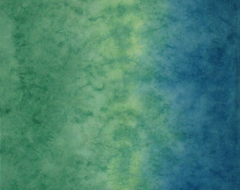 Hand Dyed Fabric - Meadow Sunrise Gradient