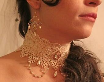 Marie Antoinette Bridal Vintage Lace Choker