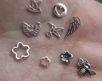 Sterling Silver Tiny Embellishments- You choose the quantity