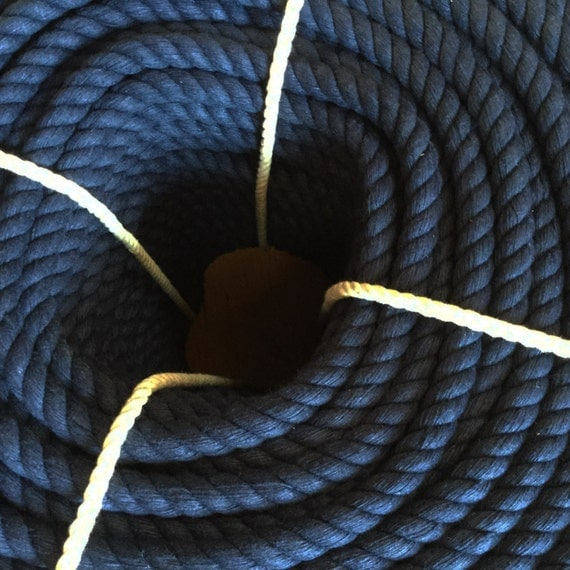 1 2 inch navy blue rope 65ft 60ft cotton rope for Rope designs and more