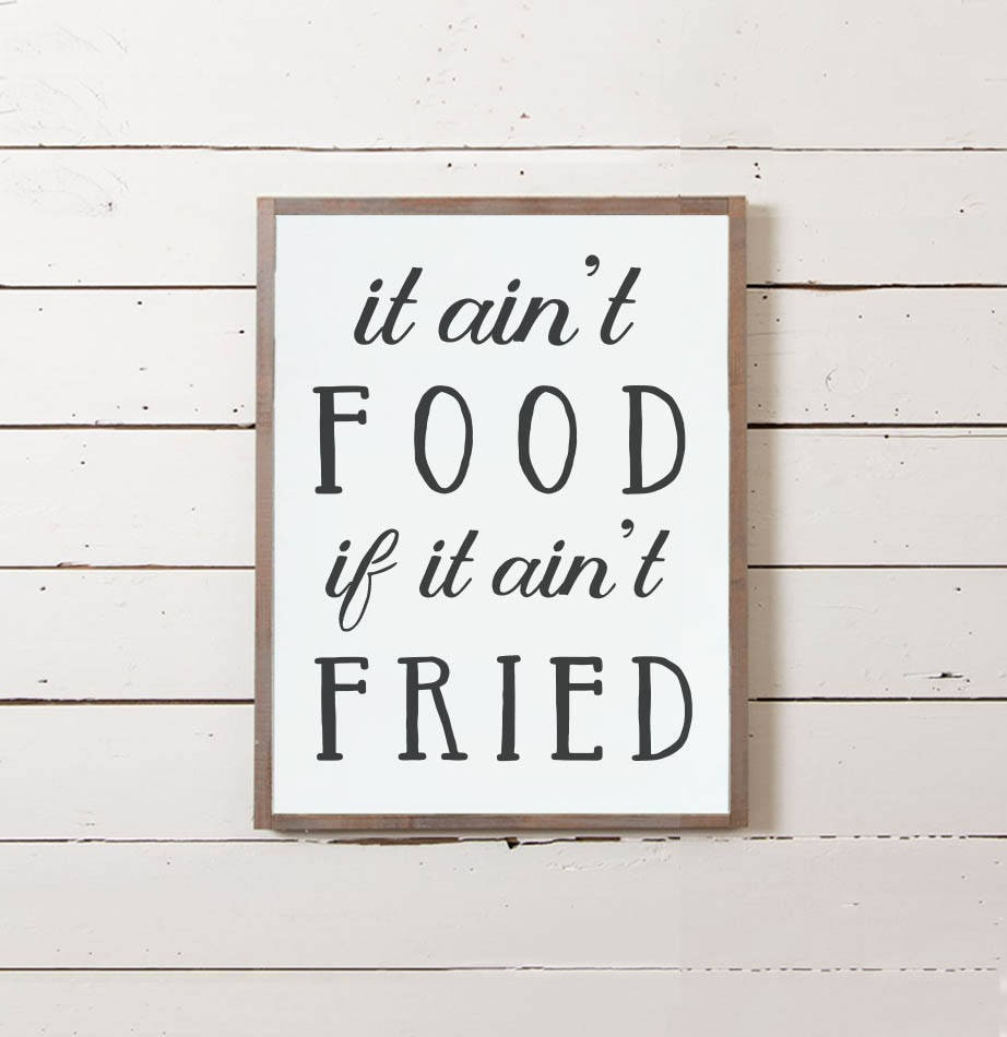 Wall sign fried food wall decor kitchen sign zoom amipublicfo Images