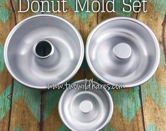 DONUT MOLD SET, 3 piece, Metal, Bath Bomb Mold