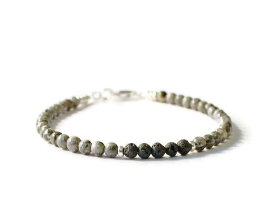 Lava Rock and Silver Crazy Lace Agate Aromatherapy Essential Oil Diffuser Bracelet