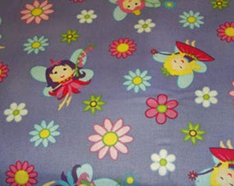 "Cotton Fabric ""Little Faires"""