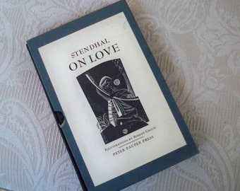 """Vintage Book Essays """"Stendhal On Love"""" Peter Pauper Press Stages of Romance"""