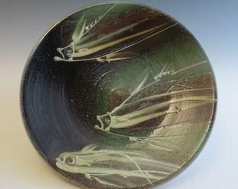 Dinner Plate Salt Glazed Dark Fish Trio