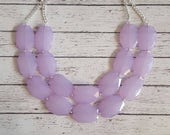 Lavender Chunky Statement Bib Necklace...Purchase 3 or more get 10% off