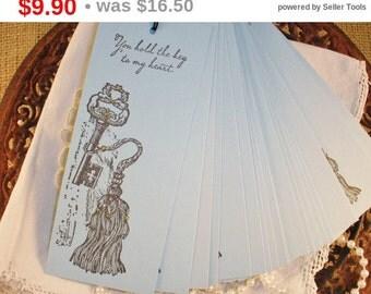 SALE Wedding Wish Tree Tags Skeleton Key Tassel Key to My Heart Wishing Tree Cards Set of 25