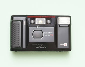 Yashica T AF Tessar 35mm Compact Point and Shoot Film Camera