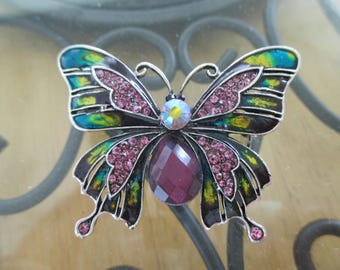 Vintage costume jewelry  / butterfly brooch