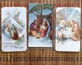 Set of Vintage Italian Nativity Cards, c1960s