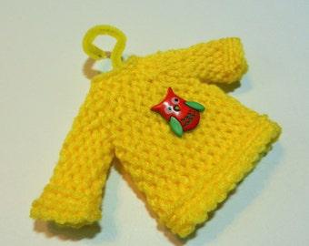 Yellow Owl Mini Sweater Ornament