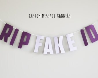 Custom Banner Message, Customer Banner Wall Hanging, Bachelorette Party Decorations, Party Decorations, Wedding Decorations, Birthday Decor