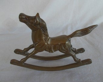 Vintage Brass Rocking Horse