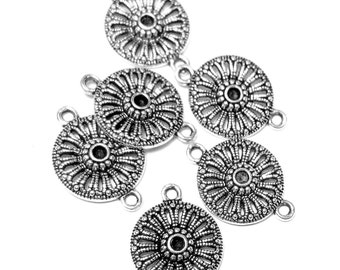 16pc. Antique silver connectors Tibetan style jewelry findings 21mm x 15mm jewelry dangles 8S162(YY1)