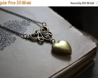 ON SALE Romeo and Juliet Locket - Heart Locket Necklace