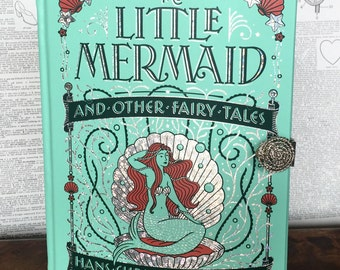 Book Clutch The Little Mermaid by Hans Christian Andersen Leatherbound Classic Made to Order