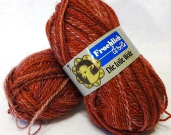 Stash Sale - Froehlich Wool Yarn, Sale Yarn, Rose Yarn, Wool Yarn, Yarn Sale - 2 balls
