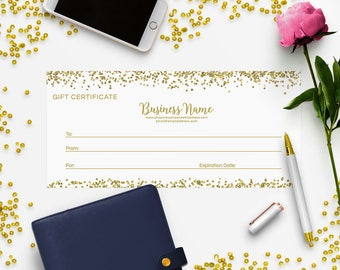SALE 35% OFF Gift Certificate Printable - Gift Certificate Download - Printable Gift Certificate  Gift Certificate Design - Glitter Gold