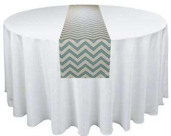 Gray Blue Table Runner Stripe Chevron Runner Wedding Table Centerpiece Decoration Party Decor Modern Chic Wedding Decor