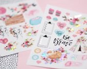 2pk Planner stickers Boho Daydreams Holographic iridescent foil