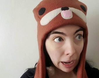Gondola fleece hat - Meme hood with mittens