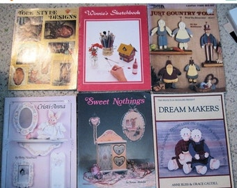 SALE NOW ON Ends 2/27/16 How To Tole Painting Pattern & Instruction Books Lot of 6 1974 - 1990