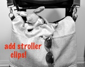 Add on Stroller clips, key chain strap, interior zipper, etc.......   Darby Mack - Made in the USA