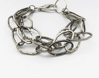 Antique Finish Oval Chain Link Bracelet