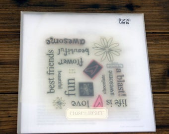 Close to My Heart Acrylic Stamp Set, Life Is, B1215
