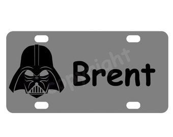 Kid's Darth Vader Star Wars Mini License Plate, Bike Plate
