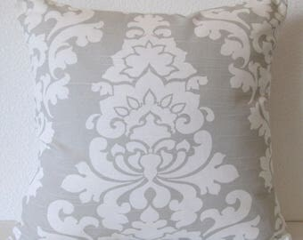 Pillow cover - French grey - Damask - Decorative pillow cover
