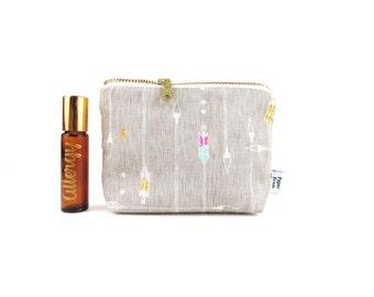 Ity-Bity Zipper Pouch - Arrow - mini change pouch essential oil bag Zip Wallet Money Wallet Change Purse roller bottle case spoonflower