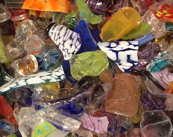 Hand Blown Glass Scrap Pieces 2 lbs. COE 96 - glass art - art glass studio - buy glass - glass blowing