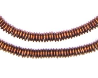 350 Antiqued Copper Heishi Beads - 6mm Metal Heishi - Metal Spacer Beads - Copper Spacer Beads - Jewelry Making Supplies (MET-HSHI-CPR-143)