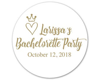 Personalized Bachelorette Party Stickers - Custom Bachelorette Labels - Girls Night Out - Bachelorette Stickers - Personalized Labels