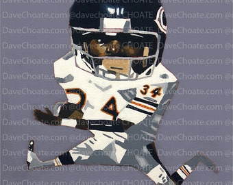 Walter Payton, Chicago Bears Art Photo Print