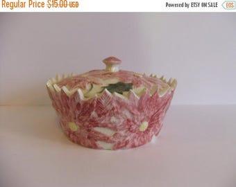 ON SALE vintage covered dish,  Pink Dish,  Serving Bowl