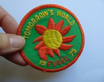 Vintage Girl Scout Badge Patch Freedom Valley Council Sun Sunflower Eastern Pennsylvania c. 1970s
