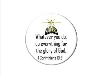 1 Corinthians 10:31 Christian Bible Verse  Refrigerator Magnet Scripture Fridge Magnet Do Everything for the Glory of God