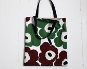 RESERVED - Tote bag made with Marimekko Unikko fabric